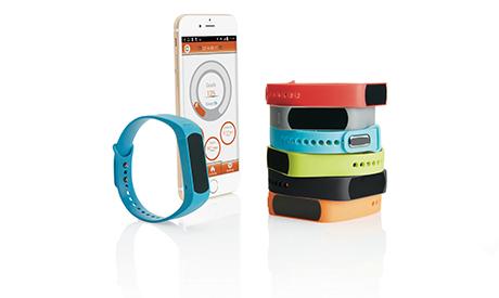 Det aktive armbånd med tilhørende app