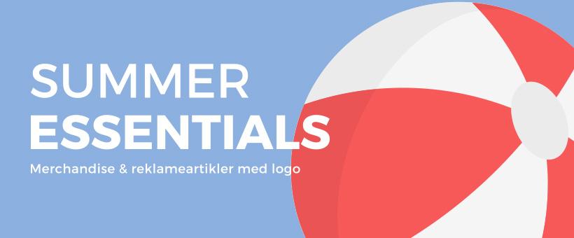 Merchandise med logo til sommer