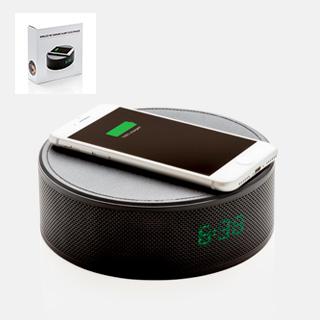 5W trådløs oplader med alarmclock og højtaler