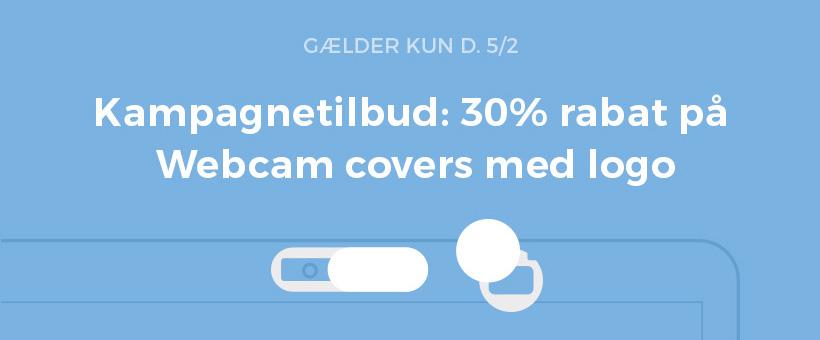 Kampagnetilbud på webcam covers